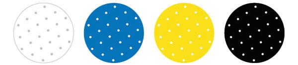 colores varios para las almohadillas absorbentes