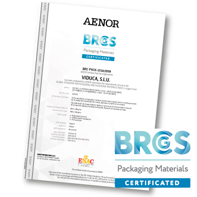 Certificado BRC PACKAGING